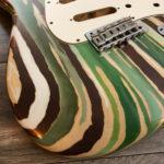 Colored Wood Grain Mercury Body - Green/Bronze Leaf (Stratocaster type)
