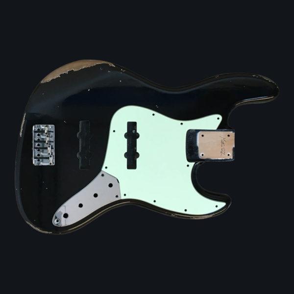 Classic Relic Uranius Body - Black (Jazz Bass type)