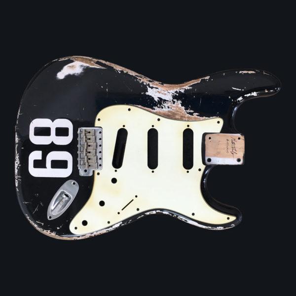 Race Number Relic Mercury Body - Black (Stratocaster type)
