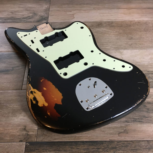 Classic Relic Neptune Body - Black over 3-Color Sunburst (Jazzmaster type)
