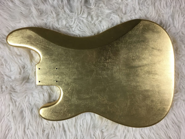 Metallic Glossy Jupiter Body - Foglia d'Oro (Precision Bass type)