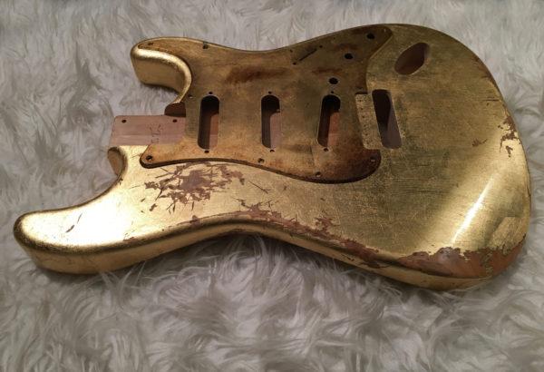 Metallic Relic Mercury Body - Foglia d'Oro (Stratocaster type)