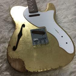 Metallic Relic Venus Body - Gold Leaf (Telecaster Thinline type)