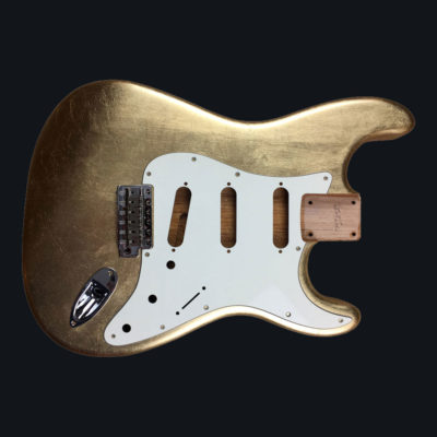 Metallic Glossy Mercury Body - Gold Leaf (Stratocaster typ