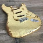 Metallic Relic Mercury Body - Gold Leaf (Stratocaster type)
