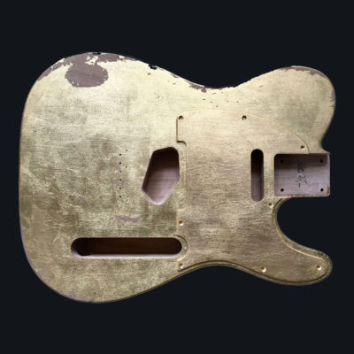 Metallic Relic Mars Body - Foglia d'Oro (Telecaster type)