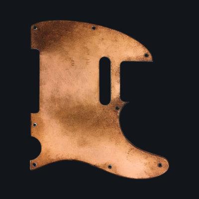 Metallic Relic Mars Pickguard - Copper Leaf (Telecaster type)