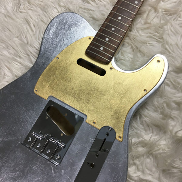 Metallic Glossy Mars Pickguard - Foglia d'Oro (Telecaster type)