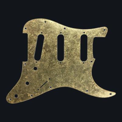 Metallic Impressionist Mercury Pickguard - Foglia d'Oro (Stratocaster type)
