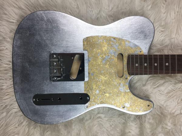 Metallic Impressionist Mars Pickguard - Foglia Oro/Argento (Telecaster type)