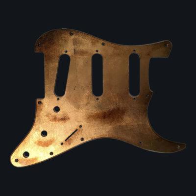 Metallic Relic Mercury Pickguard - Foglia d'Oro (Stratocaster type)
