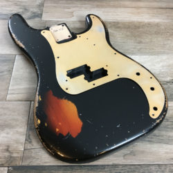 Classic Relic Jupiter Body - Black over 3-Color Sunburst (Precision Bass type)