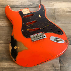 Classic Relic Mercury Body - Fiesta Red over 2-Color Sunburst (Stratocaster type)