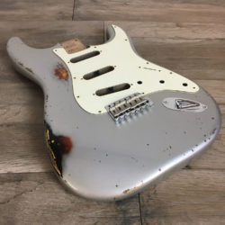 Classic Relic Mercury Body - Inca Silver over 3-Color Sunburst (Stratocaster type)