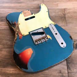 Classic Relic Mars Body - Lake Placid Blue Metallic over 3-Color Sunburst (Telecaster type)
