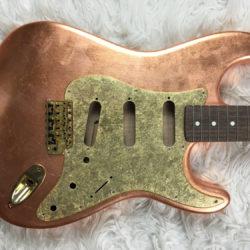 Metallic Impressionist Mercury Pickguard - Gold Leaf (Stratocaster type)