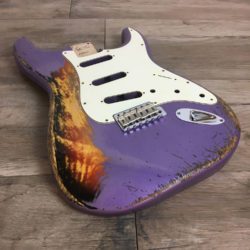 Classic Relic Mercury Body - Purple Metallic over 3-Color Sunburst (Stratocaster type)