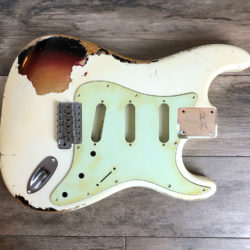 Classic Relic Mercury Body - Vintage White over 3-Color Sunburst (Stratocaster type)