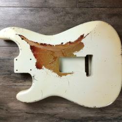 Classic Relic Mercury Body - Vintage White over 3-Color Sunburst (Stratocaster type)