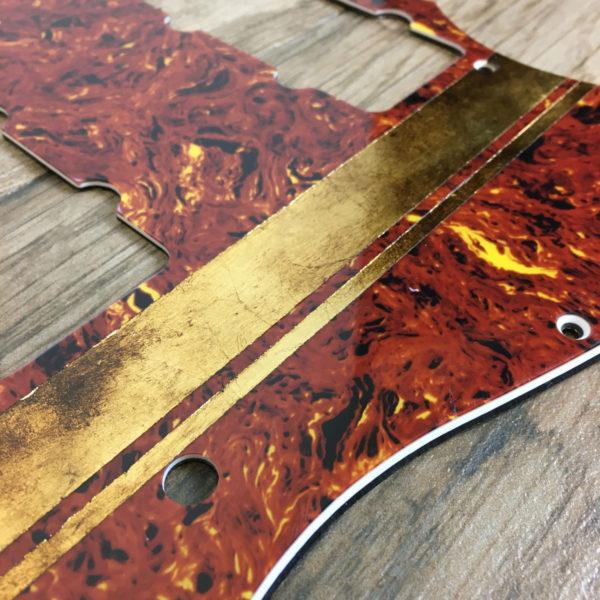 Metal Stripe Neptune Pickguard - Gold Leaf (Jazzmaster type)