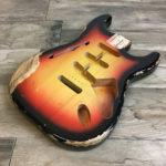 Classic Relic Mercury Thinline Body - 3-Color Sunburst (Stratocaster type)