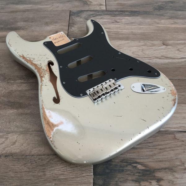 Classic Relic Mercury Thinline Body - Shoreline Gold (Stratocaster type)