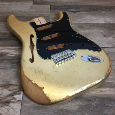 Metallic Relic Mercury Thinline Body (Gold Leaf)