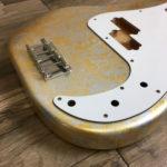 Metallic Impressionist Jupiter Body - Gold/Silver Leaf (Precision Bass type)