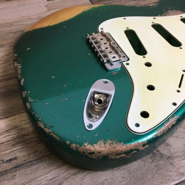 Classic Relic Mercury Body - Sherwood Green Metallic over Gold (Stratocaster type)